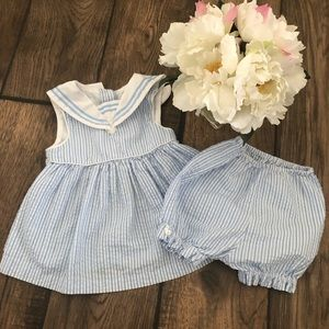 Vintage Class Club baby sailor outfit dress